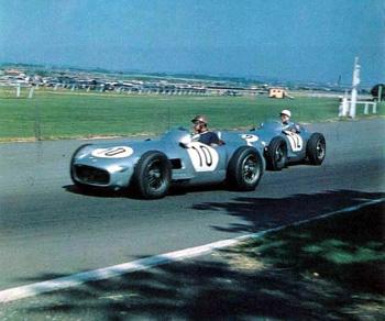 Mercedes Benz W196 - Fangio - Brumm 1/43 x 2 Inglaterra55fangiomoss2
